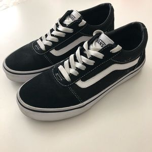 Vans Old School Shoes Black White Youth Size 4.5